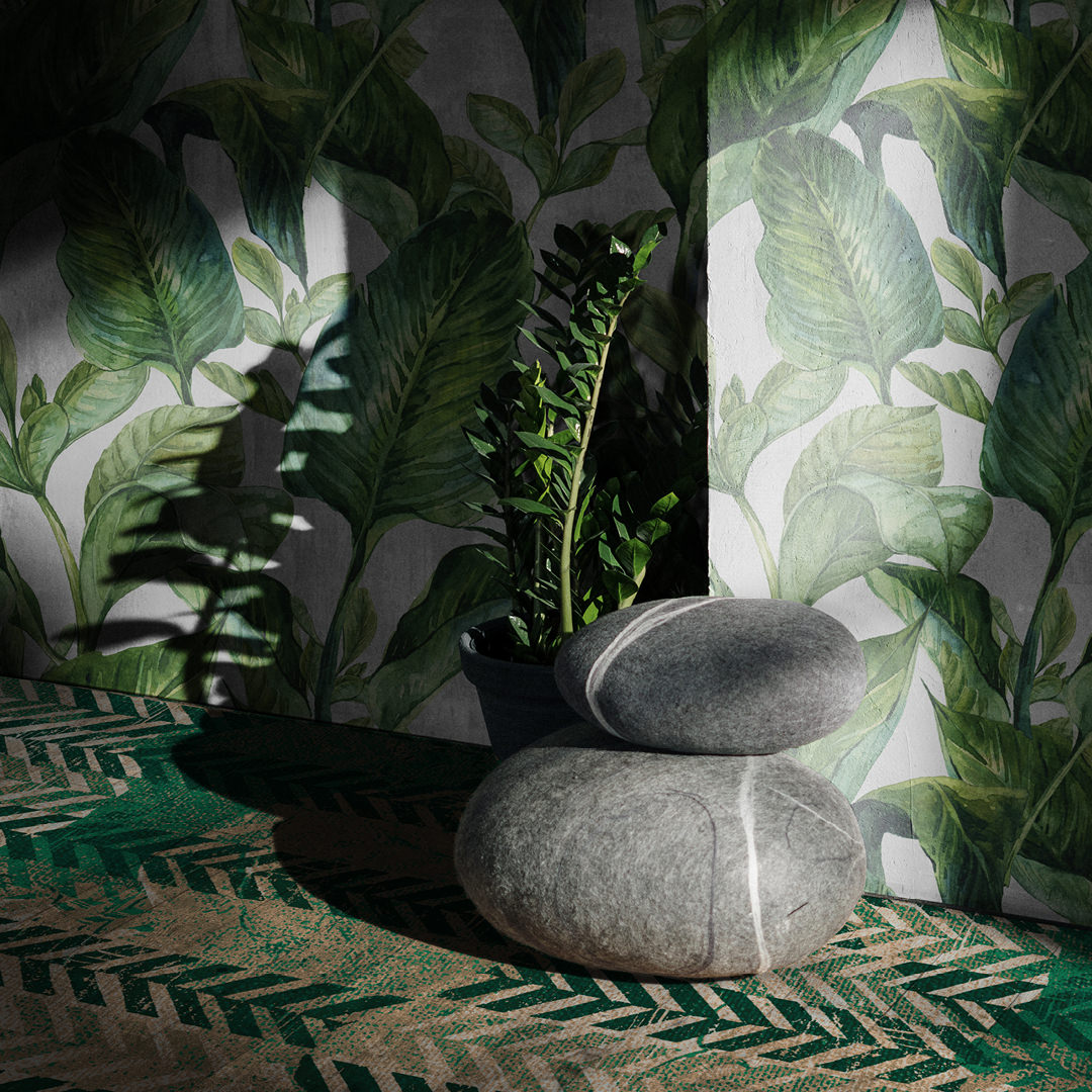 009 TROPICAL LEAVES & HILL#90