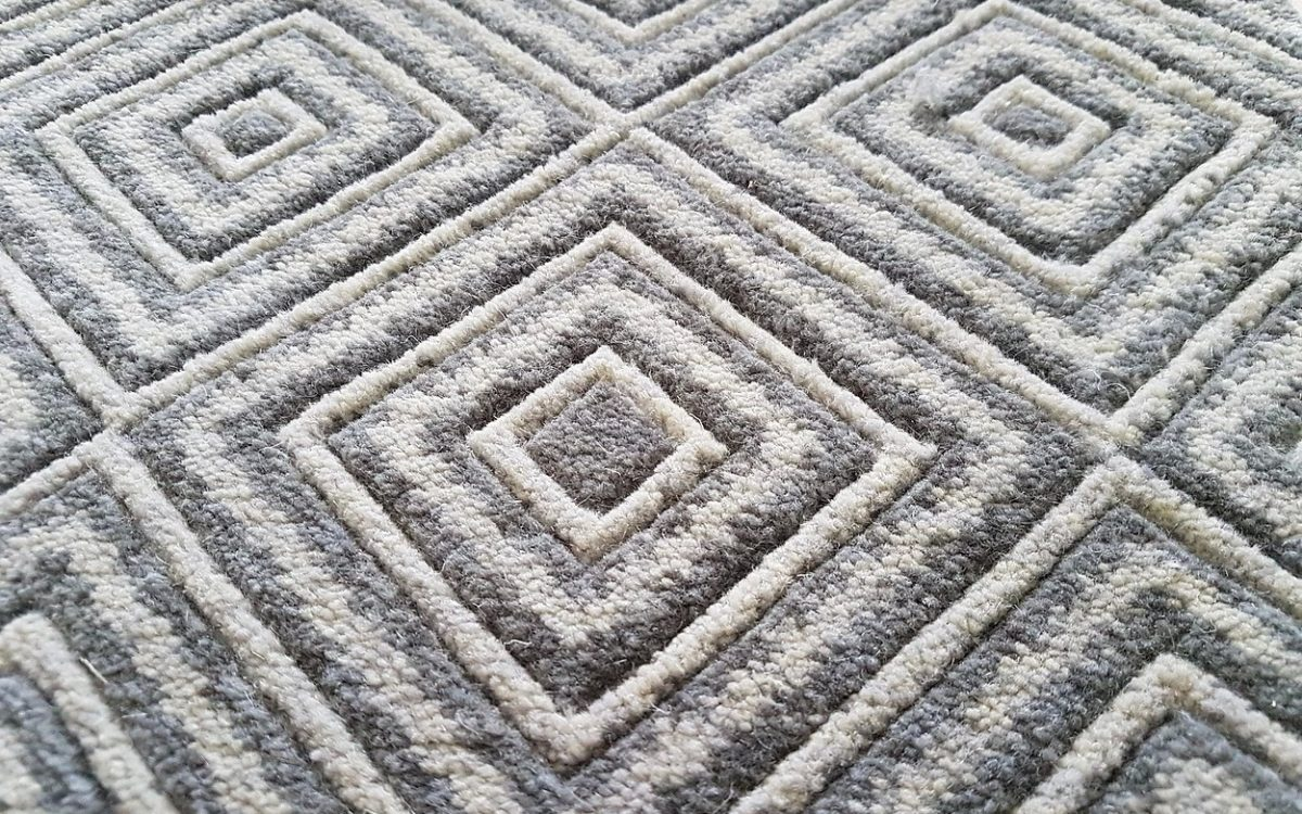 Axminster carpet with a 3D effect created through delicate hand carved detailing.